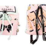 Chanel vintage 1994 terry cloth backpack as seen on Rihanna