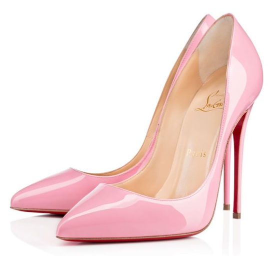 Christian Louboutin Pigalle Follies pink patent pumps as seen on Rihanna