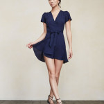 Reformation Penny wrap dress in Royal as seen on Rihanna