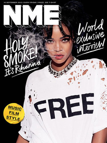 Rihanna on the cover of NME magazine September 2015