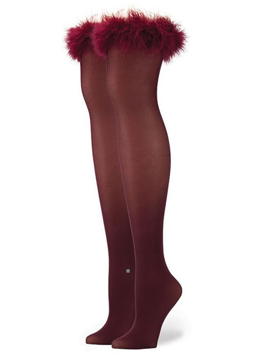 Rihanna x Stance Frosty over-the-knee socks in wine
