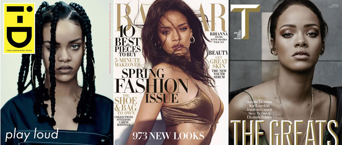 Rihanna best magazine covers of 2015