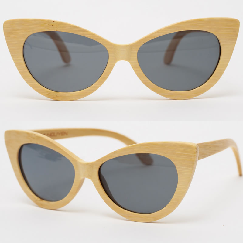 Nini Nguyen bamboo cat eye sunglasses as seen on Rihanna