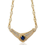 Le Vian sapphire and diamond necklace as seen on Rihanna