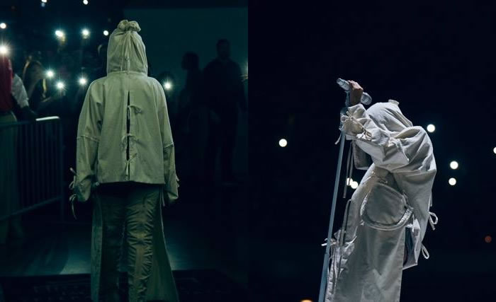 Rihanna Anti World Tour costumes Craig Green hooded coat