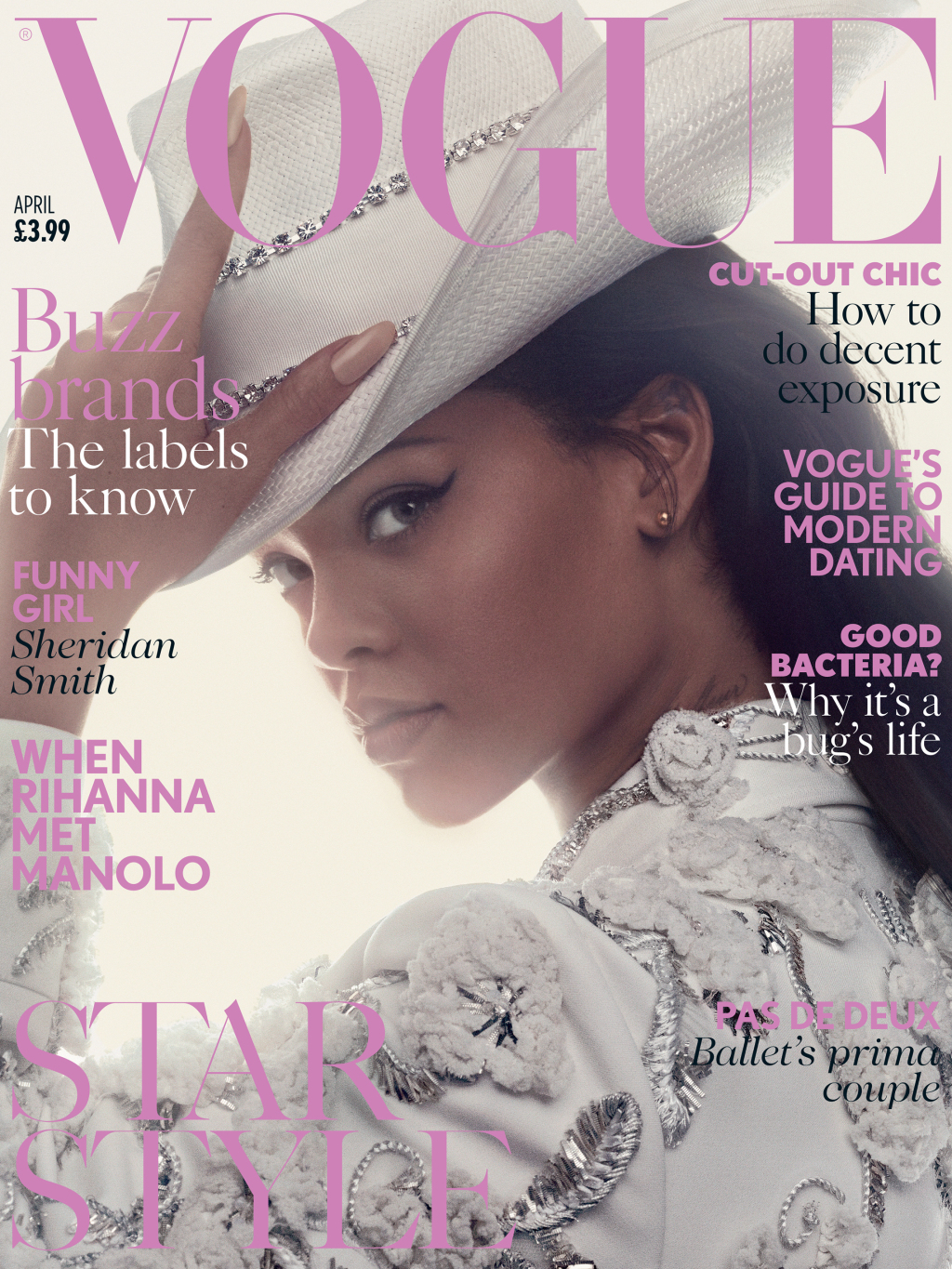 Rihanna British Vogue April 2016 magazine cover