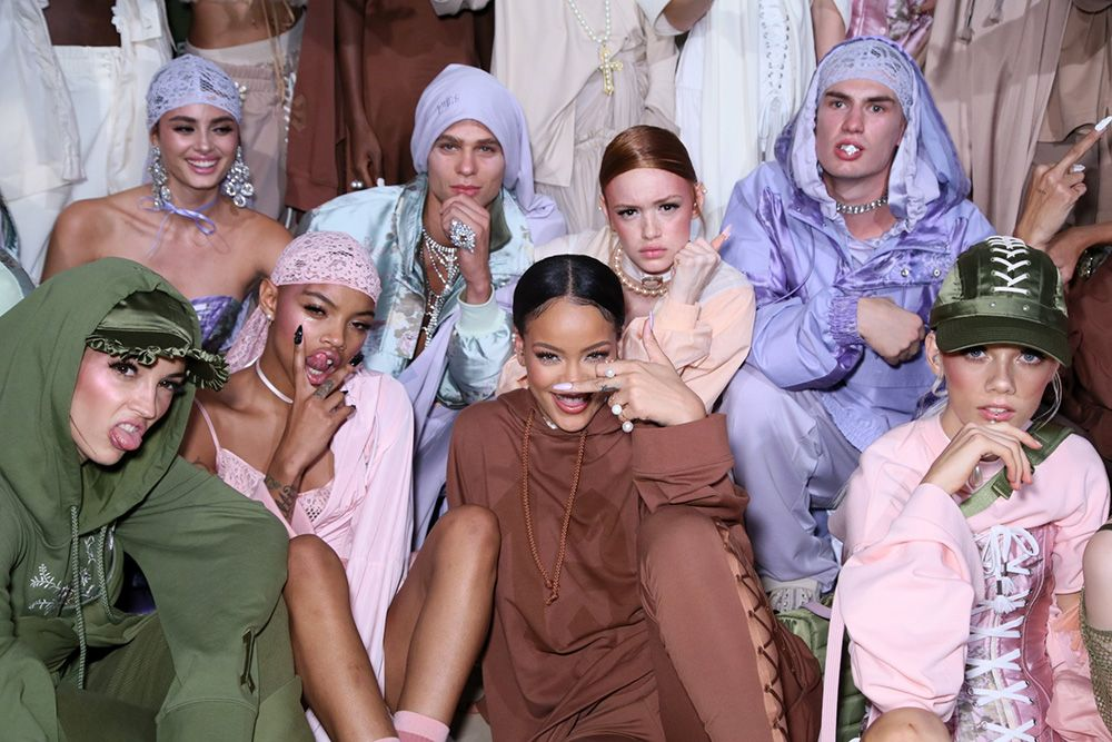 Backstage Fenty Puma Spring Summer 2017 runway show at Paris Fashion Week