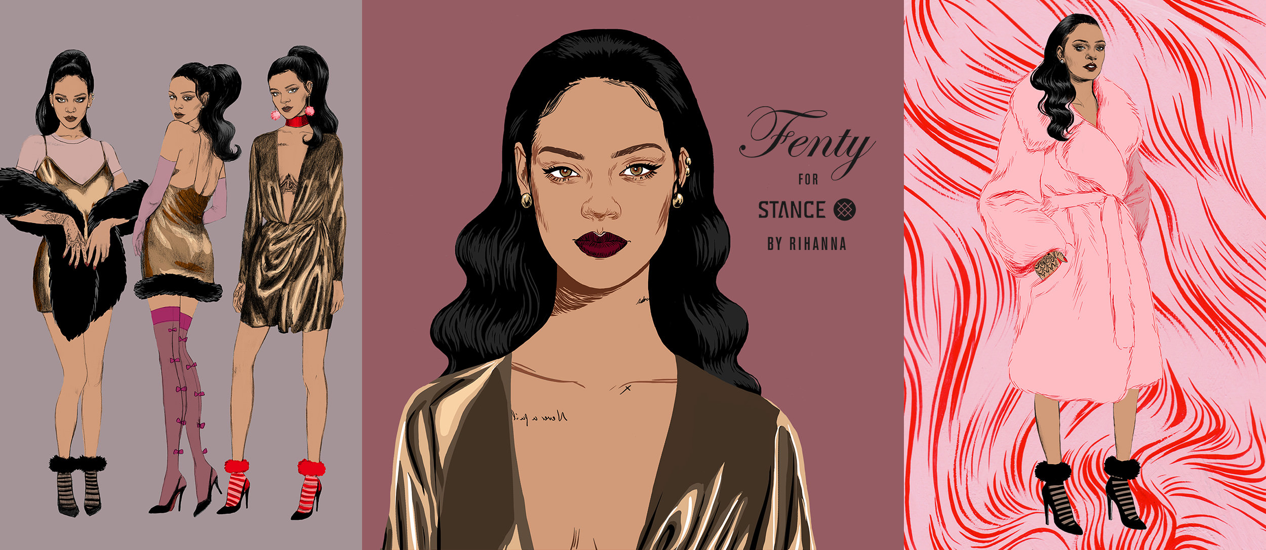 Rihanna Stance holiday sock collection 2016 banner