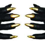 Majesty Black Sarah nail gloves a seen on Rihanna