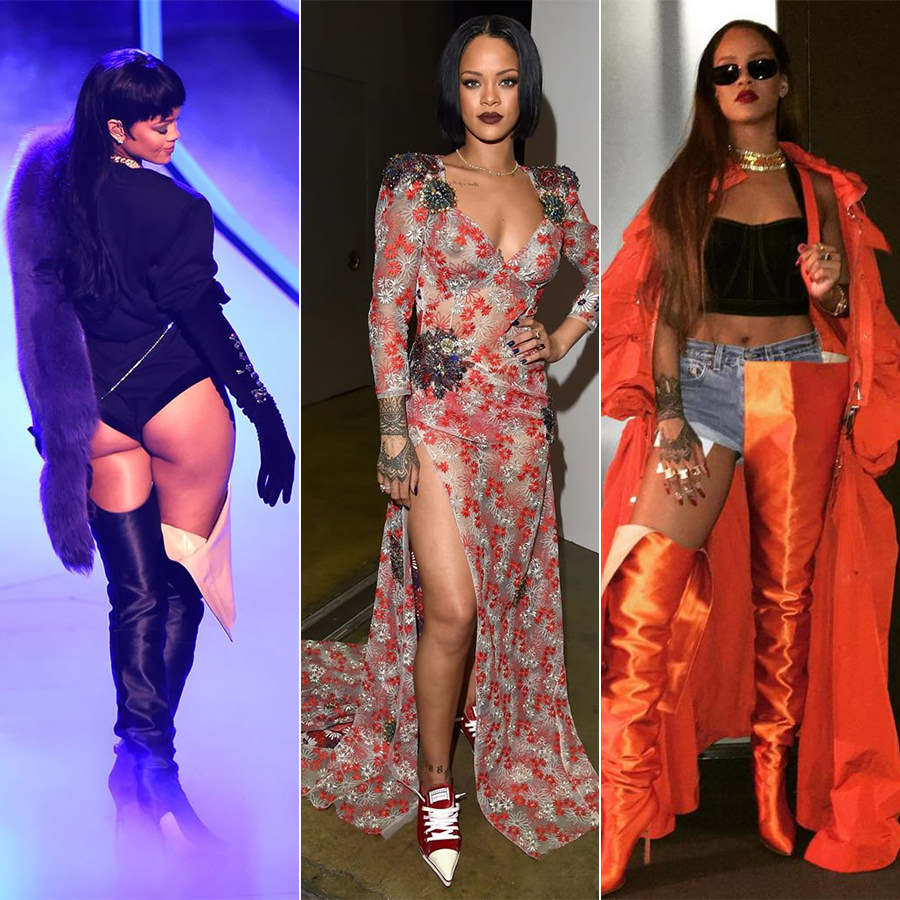 Rihanna best performance outfits 2016 mtv vma, musicares, ovo fest