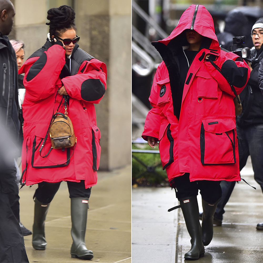 Rihanna Heads To Work In Vetements X Canada Goose Parka