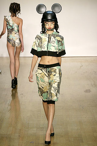 Jeremy Scott Spring 2007 mickey mouse ears helmet as seen on Rihanna Hard video