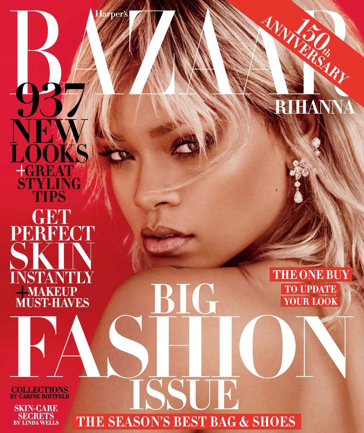 Rihanna Harper's Bazaar magazine cover March 2017