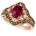 Le Vian ruby and diamond ring as seen on Rihanna