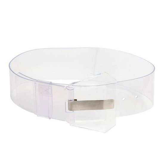 Maison Marigela transparent PVC belt as seen on Rihanna