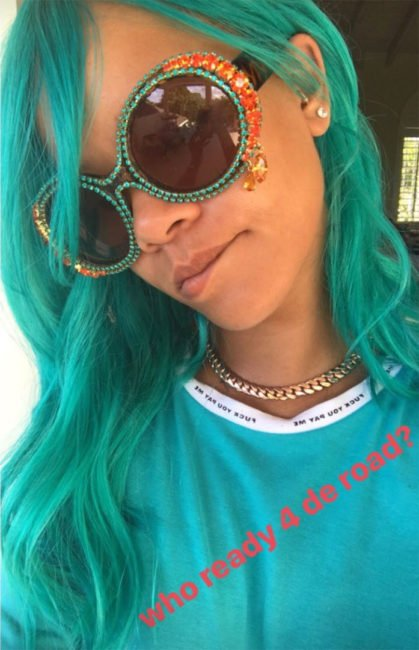 Rihanna Atelier New Regime Fuck You Pay Me t-shirt, A-Morir Eyewear June crystal sunglasses