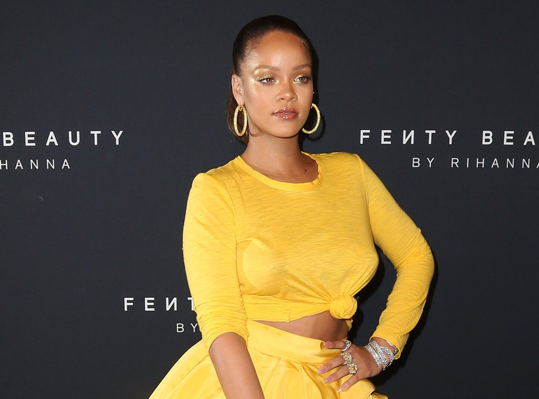 Rihanna at the Fenty Beauty launch in New York