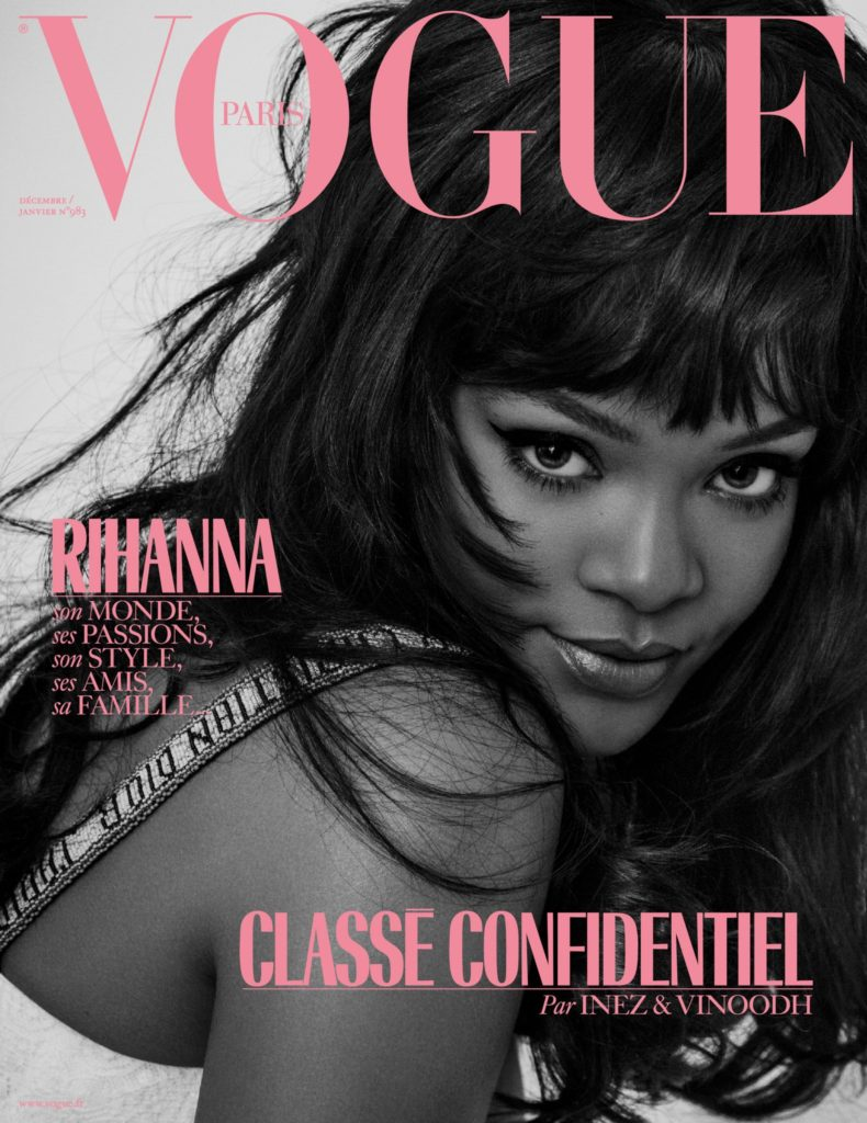 Rihanna Vogue Paris magazine cover shot by Inez & Vinoodh