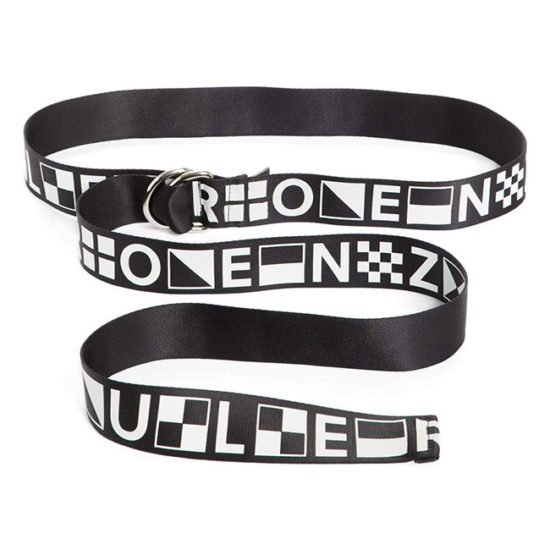 Proenza Schouler PSWL graphic black and white belt as seen on Rihanna