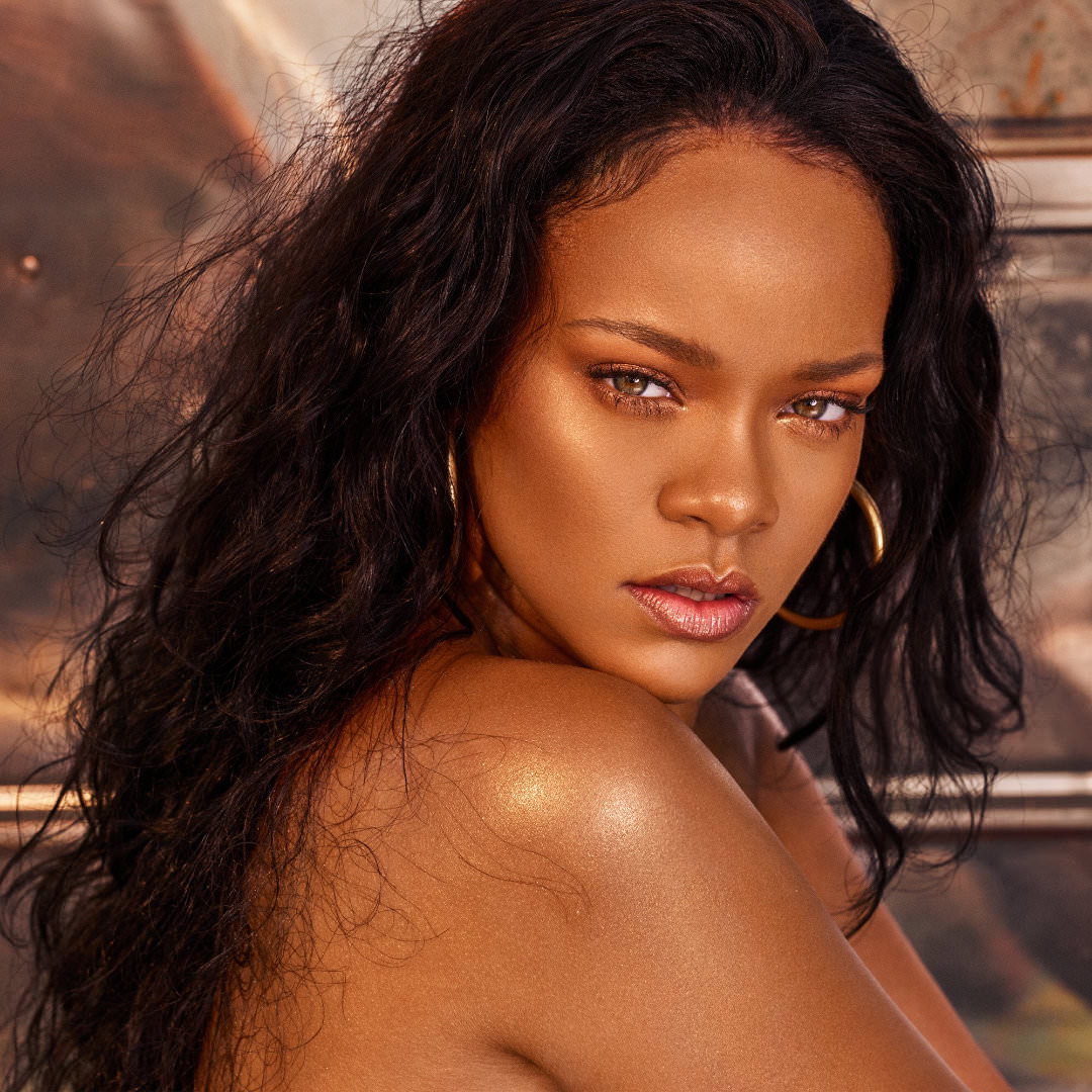 Rihanna Fenty Beauty Beach Please makeup