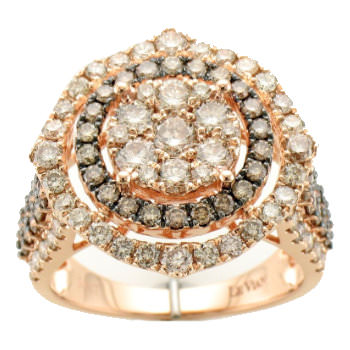 Le Vian white and chocolate diamond ring as seen on Rihanna