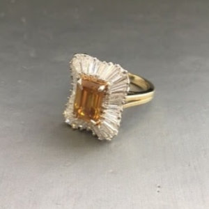 Harry Kotlar yellow and white diamond ring