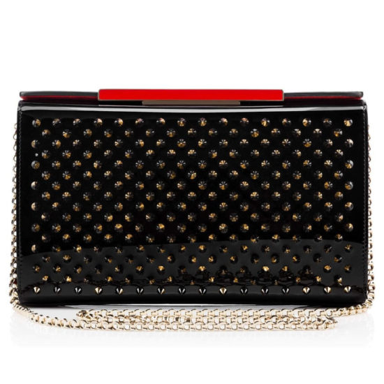 Christian Louboutin Vanite black crystal clutch as seen on Rihanna