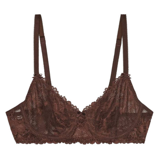 Savage x Fenty unlined lace bra in spiced as seen on Rihanna