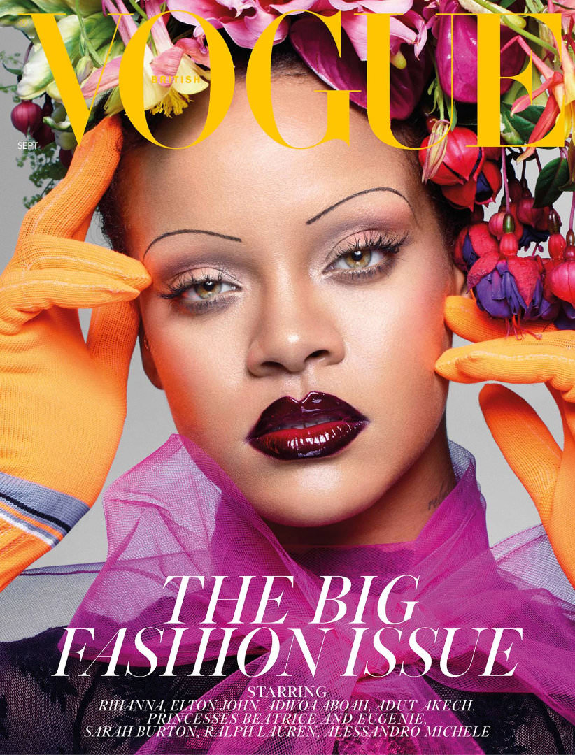 Rihanna British Vogue magazine cover September 2018