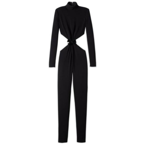 Tom Ford black cut-out jumpsuit as seen on Rihanna