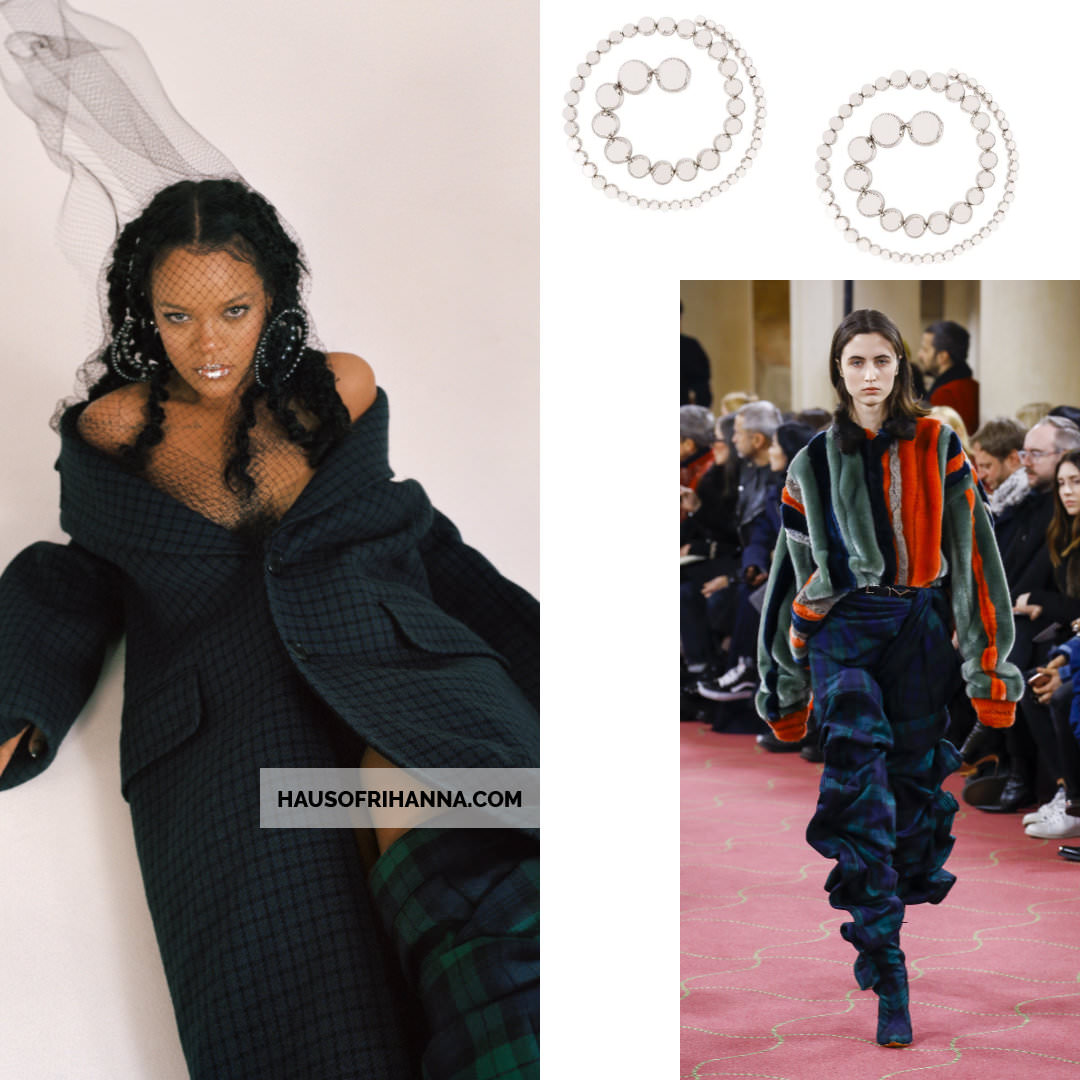 Rihanna Allure magazine Best of Beauty 2018 issue Y/Project spiral earrings and plaid boots