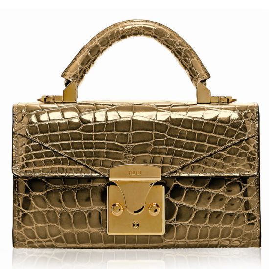 Stalvey 24kt gold top handle bag as seen on Rihanna