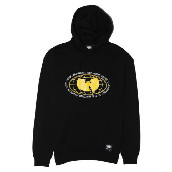 Wu Wear black Grains hoodie as seen on Rihanna