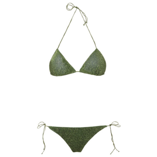 Oseree Lumiere green glitter bikini as seen on Rihanna