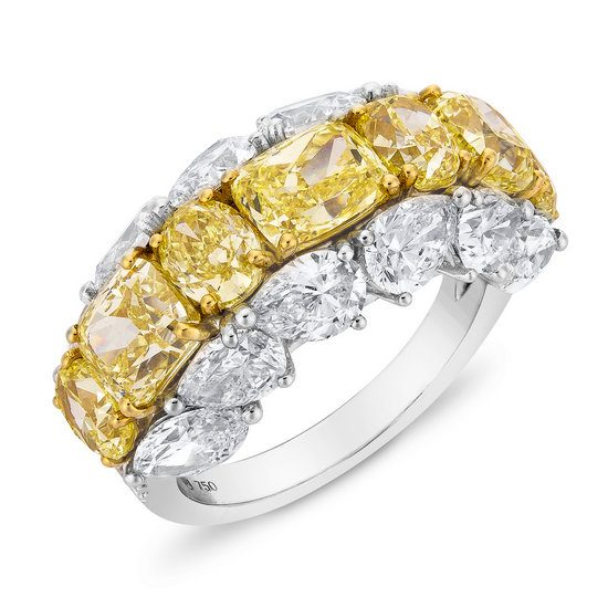 Etho Maria yellow and white diamond ring as seen on Rihanna