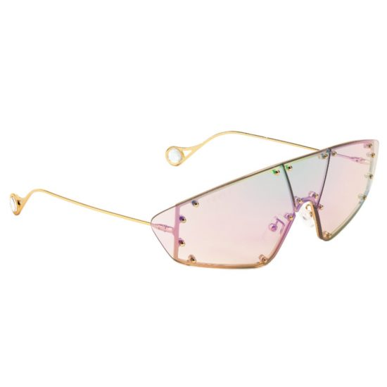 Fenty techno mask sunglasses in iridescent as seen on Rihanna