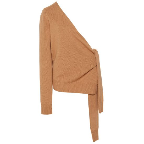 Michael Kors asymmetric tie-detailed sweater as seen on Rihanna