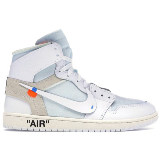 Nike x Off-White Air Jordan 1 white high-top sneakers as seen on Rihanna