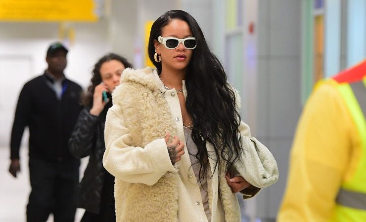 Rihanna at JFK airport
