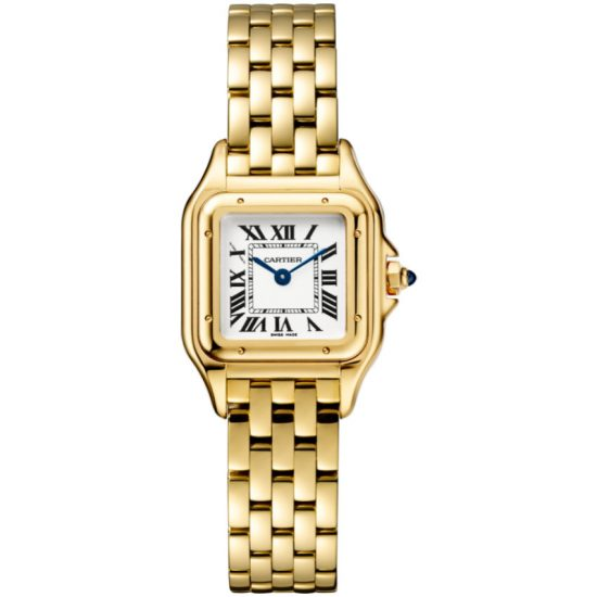 Cartier Panthere de Cartier gold watch as seen on Rihanna