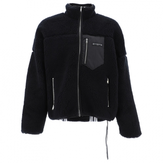 Mastermind black reversible fleece jacket with skull motif as seen on Rihanna