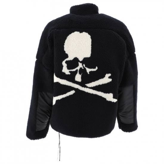 Mastermind black reversible fleece jacket with skull motif (back) as seen on Rihanna