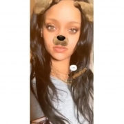 Rihanna in Wu Wear grey sweatshirt
