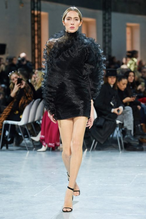 Alexandre Vauthier Spring 2020 couture black ruffled dress as seen on Rihanna