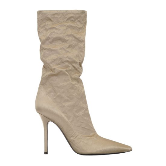 Fenty Parachute boots in champagne as seen on Rihanna