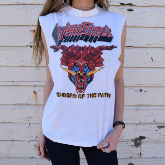 Judas Priest Defenders of the Faith t-shirt as seen on Rihanna