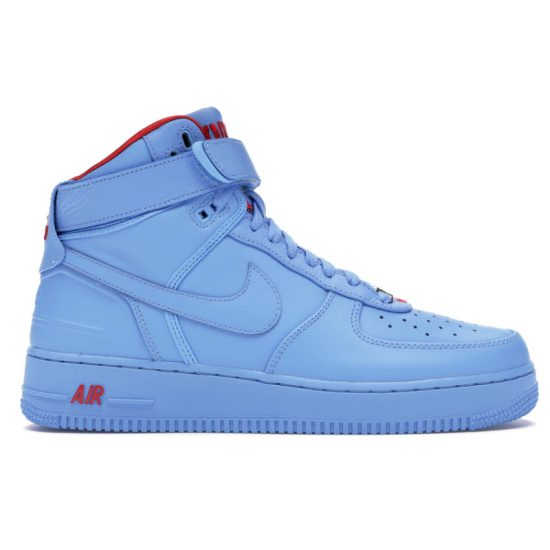 Just Don x Nike Air Force 1 all star blue sneakers as seen on Rihanna