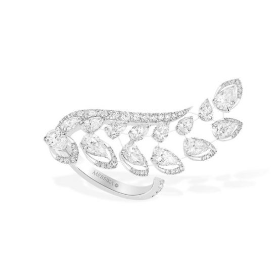 Messika Snake Dance white diamond and white gold ring as seen on Rihanna