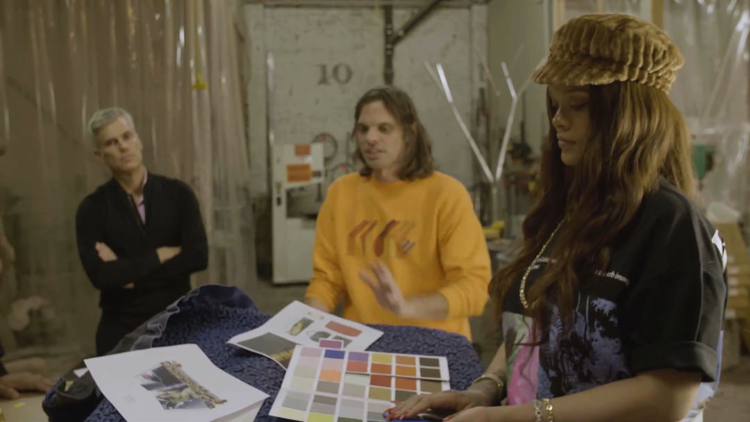 Rihanna behind the scenes of the making of her coffee table book