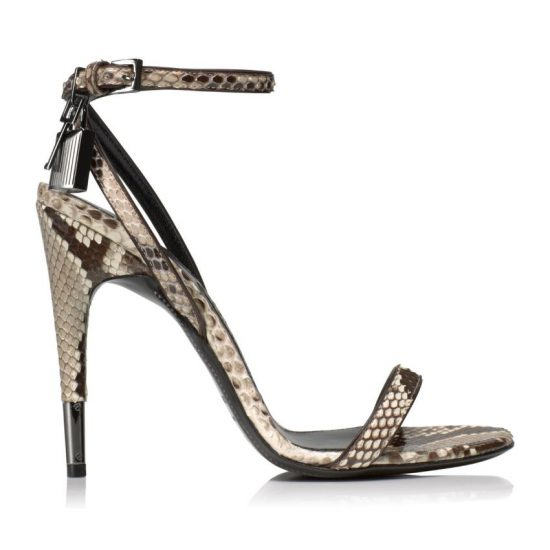 Tom Frod padlock ankle strap sandals as seen on Rihanna